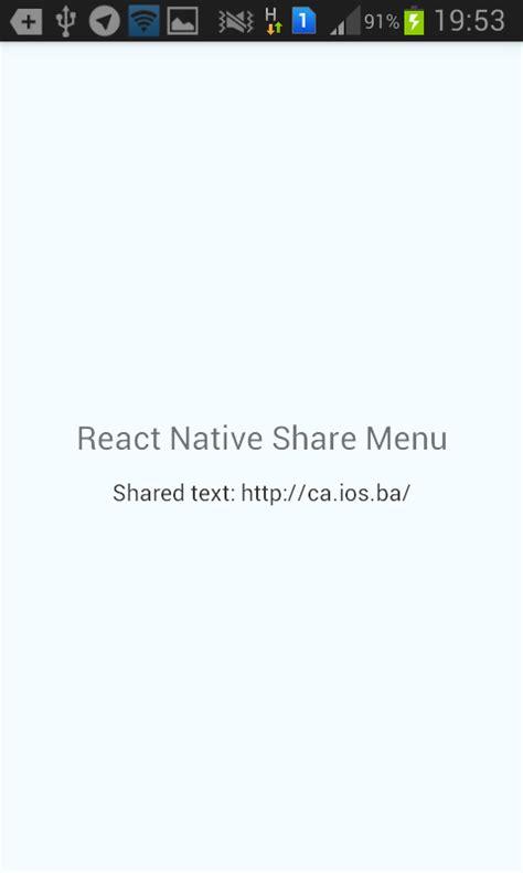 react native module tutorial github jdmunro react native share menu a module for