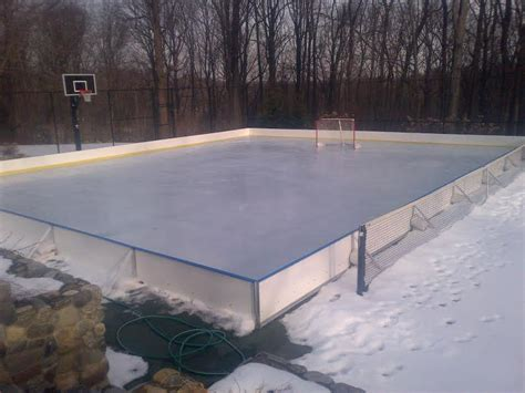 backyard hockey rink boards d1 backyard rinks synthetic ice basement or backyard