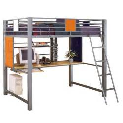 Metal Bunk Bed With Desk Brookstone Metal Loft Bed With Desk And Drawers Ebay
