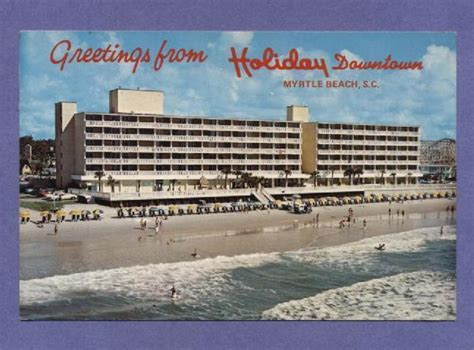 Does Holiday Inn Have Gift Cards - vintage postcard greetings from holiday inn myrtle beach sc unused south carolina