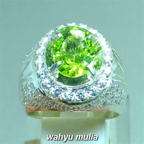 Cincin Batu Akik Permata Peridot batu cincin permata green peridot asli kode 981 wahyu
