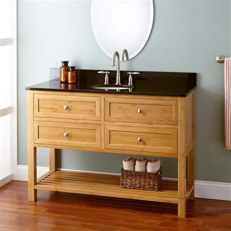 "48"" Narrow Depth Taren Bamboo Vanity for Undermount Sink"