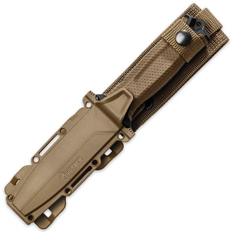 serrated bowie knife strongarm serrated fixed blade knife coyote budk