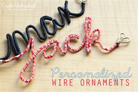 Name Ornaments - craft ornaments tutorial make your own personalized wire