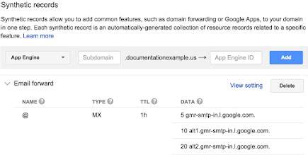 email forwarding google domains