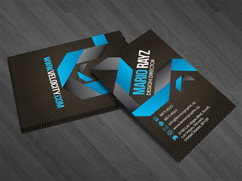 Velocity Card Template by Velocity Corporate Business Card Lemon Graphic