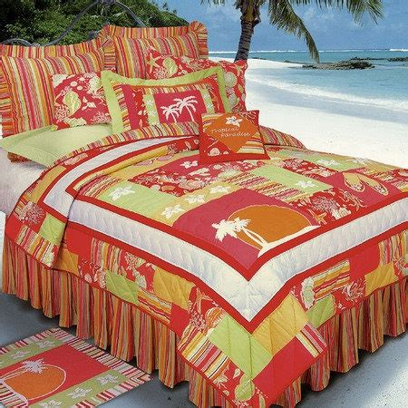 tropical paradise quilt bedding tropical quilt and