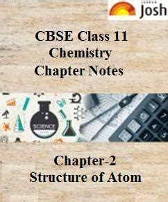chemistry atoms part 1 books cbse class 11 chemistry chapter 2 revision notes part i