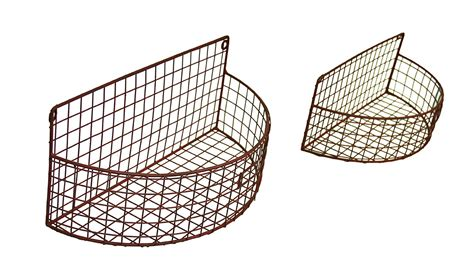 Wall Baskets For Garden 2 Pc Metal Mesh Wire Arch Wall Basket Planter Set Ebay