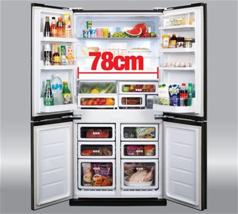 Jenis Dan Lemari Es Sharp sj f90pg bk lemari es sharp pilihan paling tepat untuk