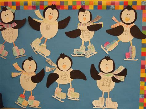math craft projects penguin math craft practicing fact families in