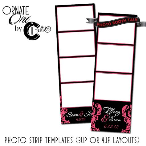 card photo booth template ornate 1 by ci creative photo booth talk