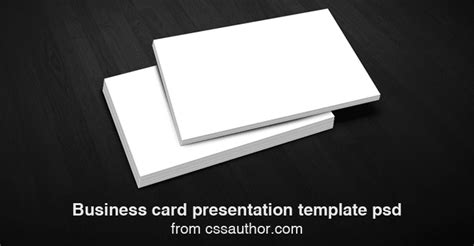 business card presentation template free business card presentation templates psd