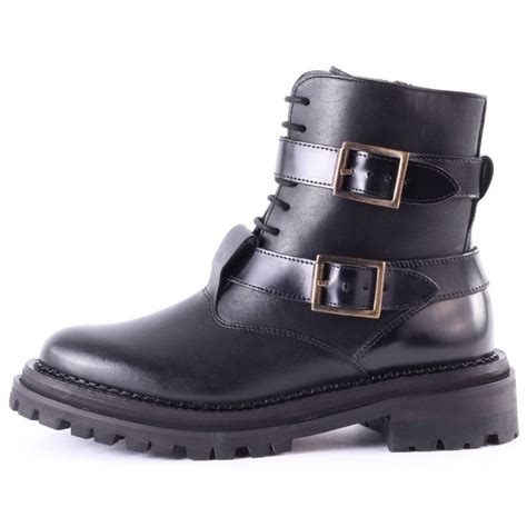 h by hudson kerb womens boots in black