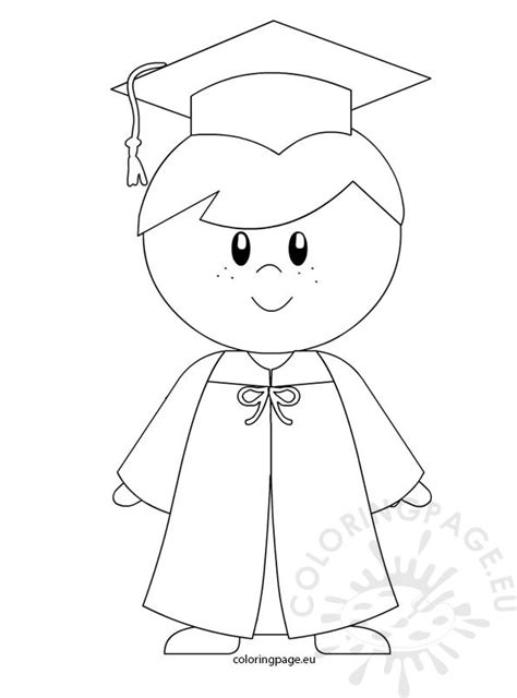 coloring pages for preschool graduation kindergarten boy graduation coloring page