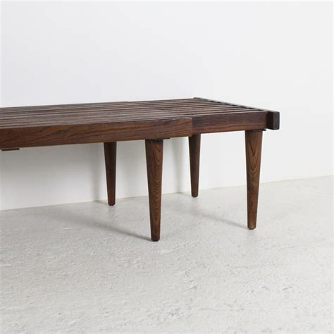 wood bench coffee table coffee table or bench 1964 in walnut wood