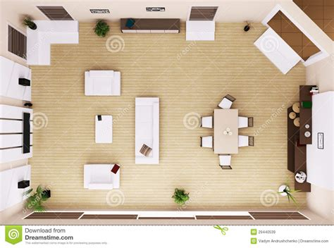living room interior top view 3d render royalty free stock images image 29440539
