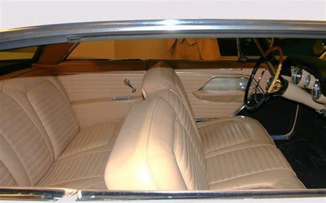 bench cl 1957 chrysler 300c hardtop leather bench seat interior svr cloud white garage wpc
