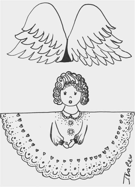 страната отвъд дъгата коледни шаблони ангели paper