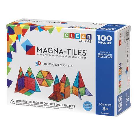 magna tiles clear 100 set the original magnetic