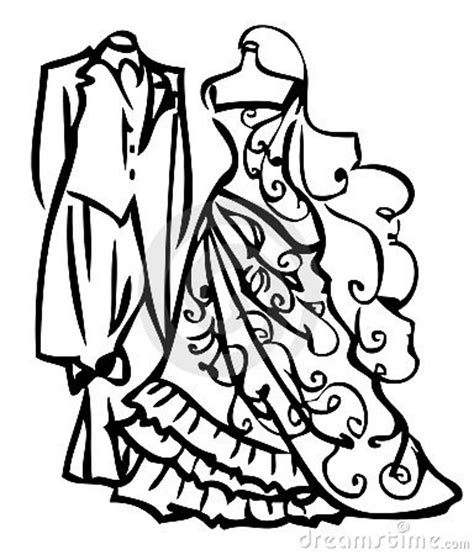 Wedding Black And White Clipart by Black And White Wedding Dress Clipart Clipart Panda