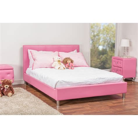 pink full size bed baxton studio barbara pink leather modern full size bed