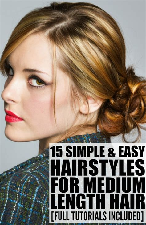 easy hairstyles for medium hair images osblove 15 hairstyles for medium length hair