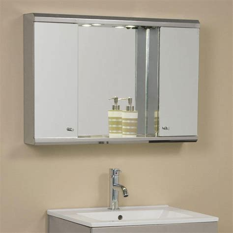 corner mirror cabinet with light bathroom medicine cabinets with lights ideas home ideas
