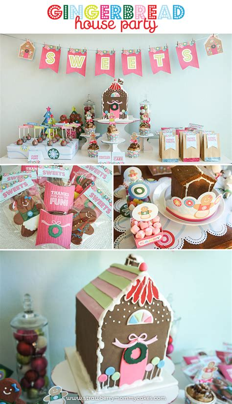 house party themes gingerbread house party strawberry mommycakes