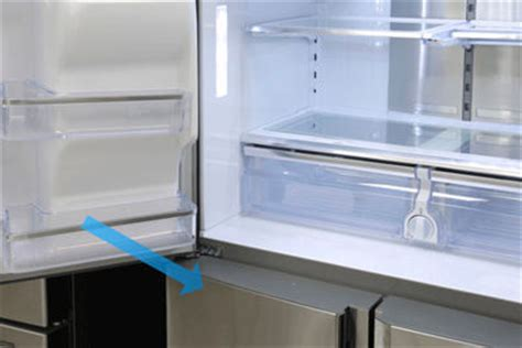 Samsung Refrigerator Door Removal by Removing And Replacing The Drawers On Your 4 Door Flex