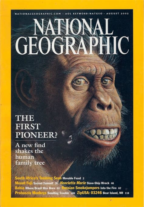 National Geographic August 2002 The First Pioneer