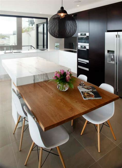 extending kitchen island to a dining table http www cozinha americana dicas profissionais fotos e medidas
