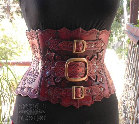 Absolute Devotion ophelia steunk tooled leather underbust