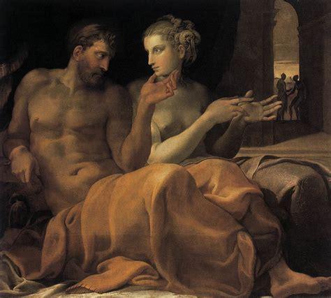 libro manet by himself ulysses and penelope by primaticcio francesco