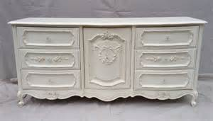 White Provincial Dresser Shabby Chic Painted Dresser In Green