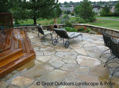 Backyard Decks Cost by What About Composite Wood Steps Leading To A Flagstone
