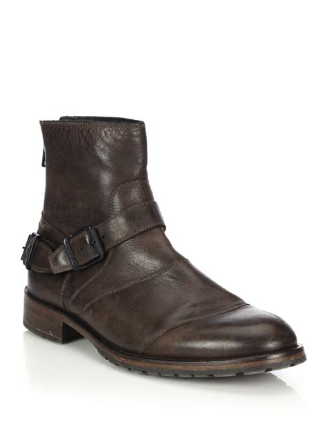 belstaff boots mens belstaff trialmaster waxed leather boots in brown