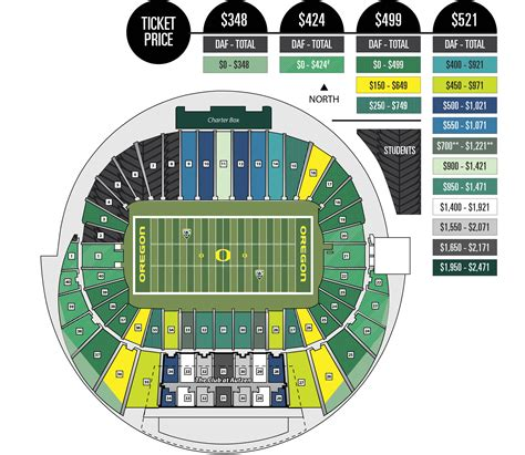 autzen stadium seating chart with rows and seat numbers