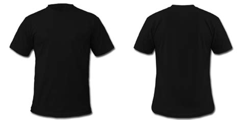 black t shirt front and back template clipart best