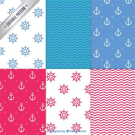 nautical pattern vector free nautical patterns vector premium download
