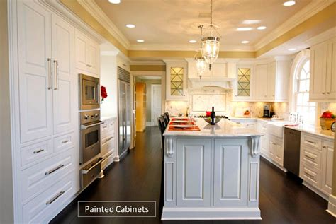 painting vs staining kitchen cabinets custom kitchen cabinets painted vs stained