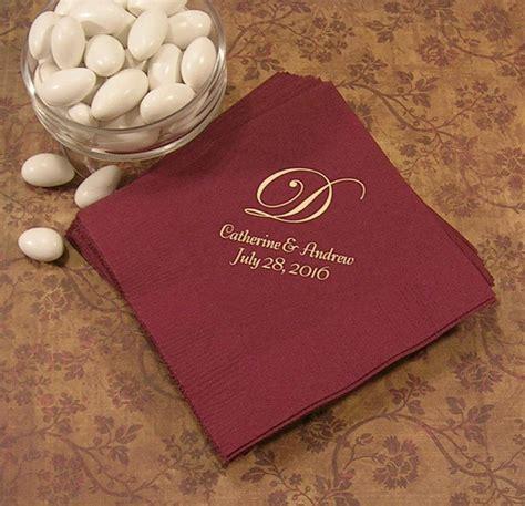 Wedding Napkin Fonts by Monogram Napkins Wedding Napkins Personalized Personalized