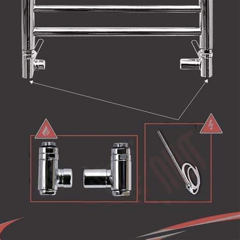 dual fuel bathroom towel radiators dual fuel valve conversion kits for bathroom heated towel