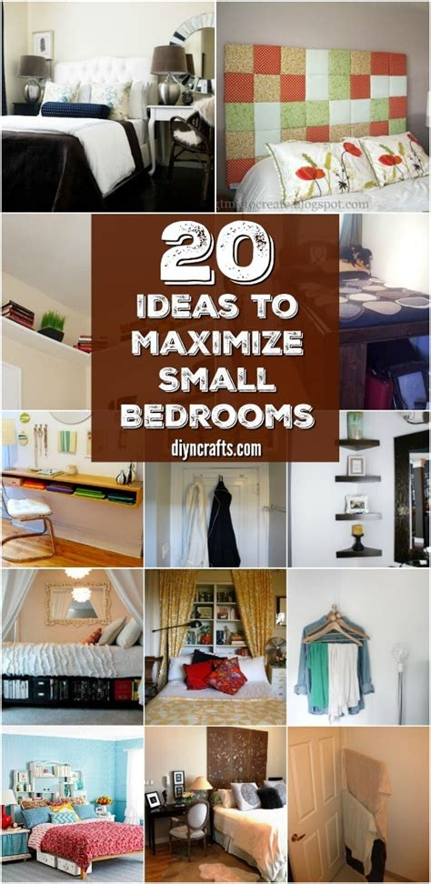 space saving ideas  organizing projects  maximize  small bedroom diy crafts
