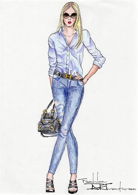 fashion illustration denim 43 best fashion illustration images on fashion illustrations drawing fashion and