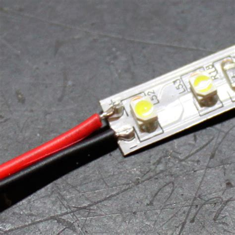 How To Solder Led Light Strips Led Tutorials Soldering Wire To Single Color Led Light