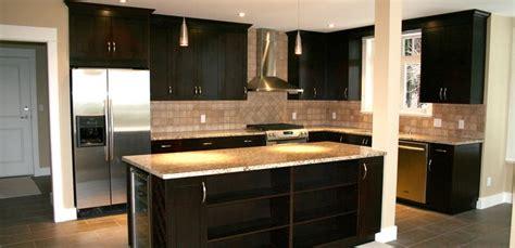 kitchen cabinets maple espresso countertops formica maple shaker with an espresso stain with giallo ornamental