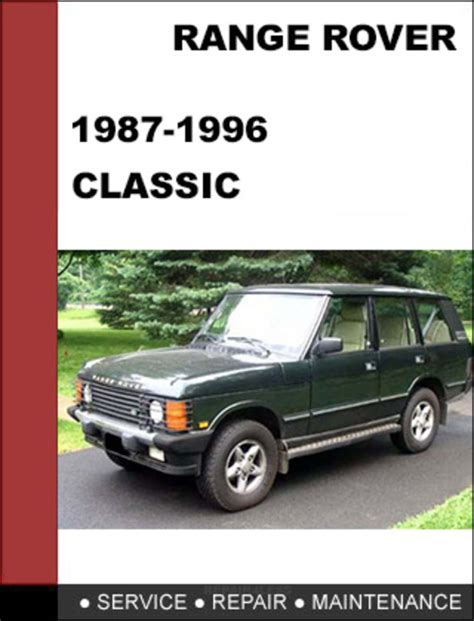 service manual 1987 land rover range rover service manual free download haynes workshop