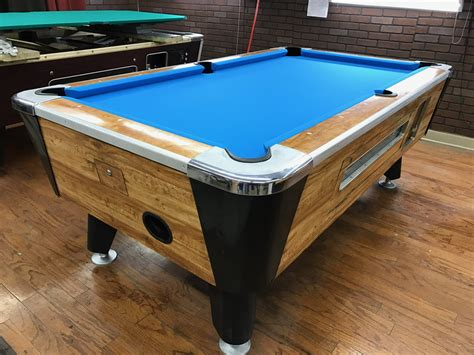 table 041417 valley used coin operated pool table used