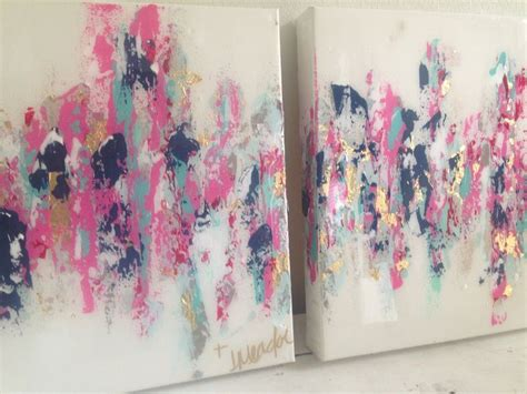 Kemeja Navy Abstract Black Leaf abstract pink navy gold 10 quot x10 quot set 150 by